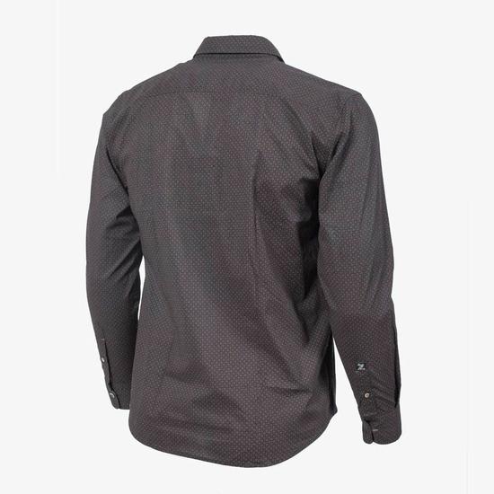Chemise Noir à Motifs
