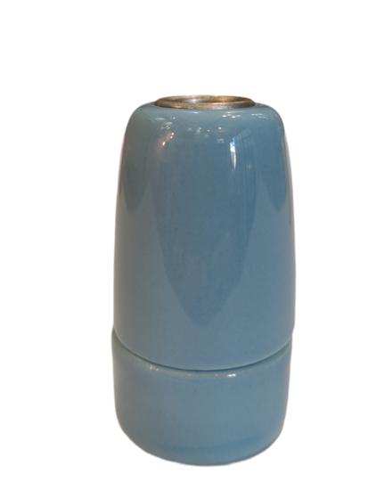 Douille céramique bleu