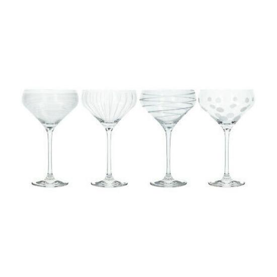 Lot de 4 verres à cocktail